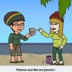 Paloma y Mel de vacances